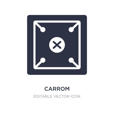 carrom icon on white background. Simple element illustration from Entertainment concept. carrom icon symbol design.