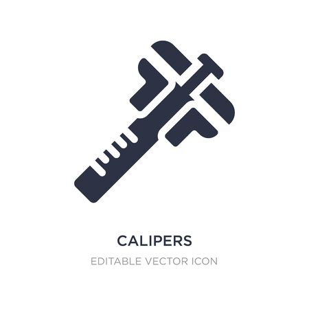 calipers icon on white background. Simple element illustration from Edit tools concept. calipers icon symbol design.