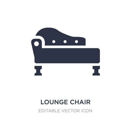lounge chair icon on white background. Simple element illustration from Furniture and household concept. lounge chair icon symbol design.
