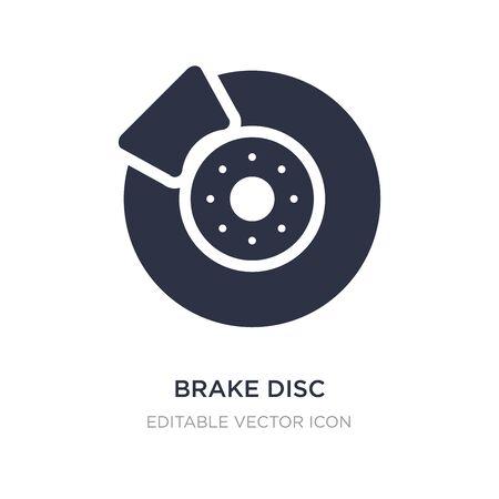icône de disque de frein sur fond blanc. Illustration d'élément simple du concept de transport. conception de symbole d'icône de disque de frein. Vecteurs