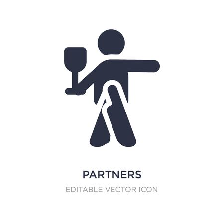 partners claping hands icon on white background. Simple element illustration from People concept. partners claping hands icon symbol design. 向量圖像