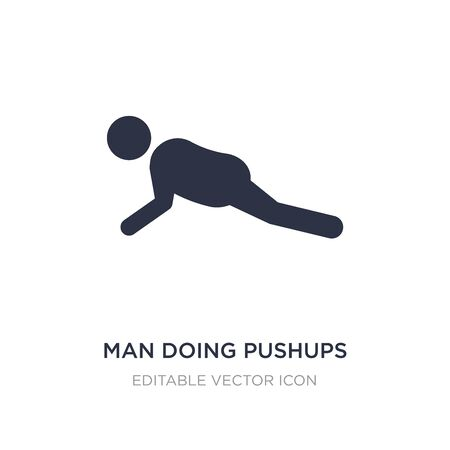 man doing pushups icon on white background. Simple element illustration from Sports concept. man doing pushups icon symbol design.