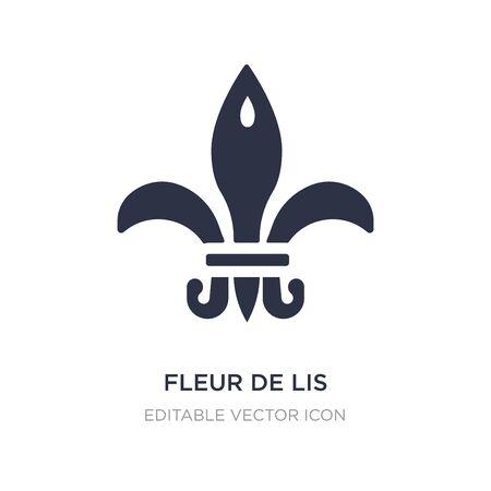 fleur de lis icon on white background. Simple element illustration from Shapes concept. fleur de lis icon symbol design. Illusztráció