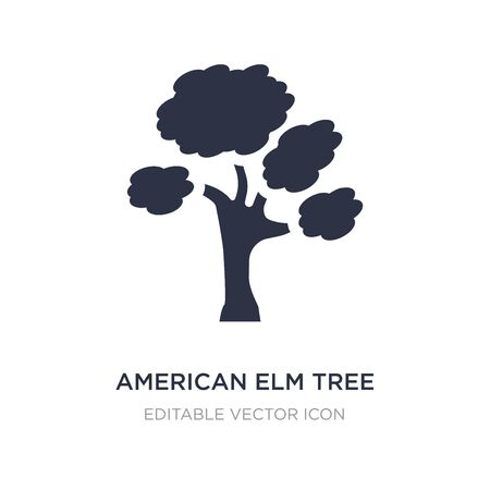 american elm tree icon on white background. Simple element illustration from Nature concept. american elm tree icon symbol design.