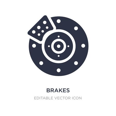 brakes icon on white background. Simple element illustration from Transportation concept. brakes icon symbol design.