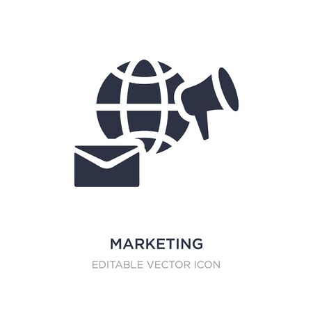 marketing icon on white background. Simple element illustration from Social media marketing concept. marketing icon symbol design.