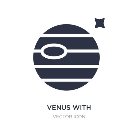 venus with satellite icon on white background. Simple element illustration from Astronomy concept. venus with satellite sign icon symbol design. Illustration