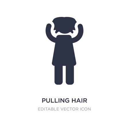 pulling hair icon on white background. Simple element illustration from People concept. pulling hair icon symbol design.