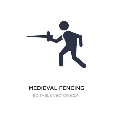 medieval fencing icon on white background. Simple element illustration from Sports concept. medieval fencing icon symbol design. Vettoriali
