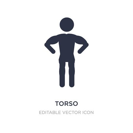 torso icon on white background. Simple element illustration from People concept. torso icon symbol design.