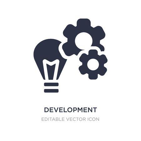 development icon on white background. Simple element illustration from Social media marketing concept. development icon symbol design. Illustration