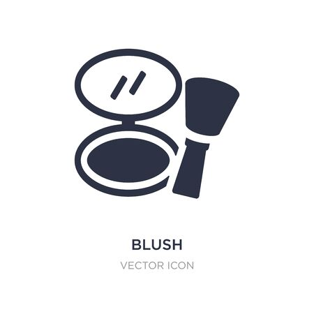 blush icon on white background. Simple element illustration from Beauty concept. blush sign icon symbol design.
