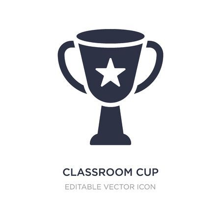 classroom cup icon on white background. Simple element illustration from Signs concept. classroom cup icon symbol design. 向量圖像