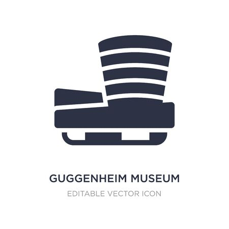 museum icon on white background. Simple element illustration from Monuments concept.museum icon symbol design.  イラスト・ベクター素材