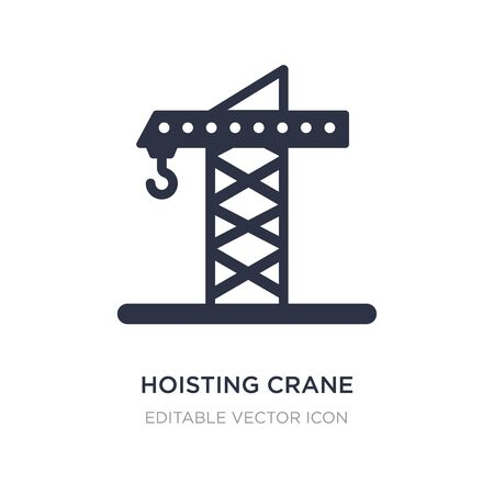 hoisting crane icon on white background. Simple element illustration from Signaling concept. hoisting crane icon symbol design. Иллюстрация