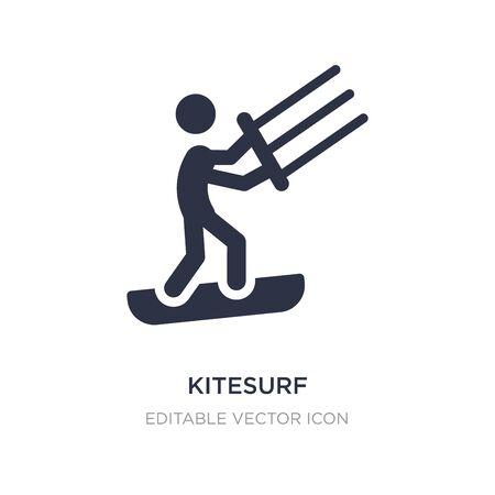 kitesurf icon on white background. Simple element illustration from Signs concept. kitesurf icon symbol design. Illustration