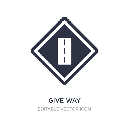 give way icon on white background. Simple element illustration from Signaling concept. give way icon symbol design.