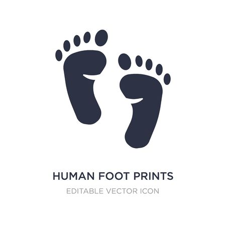 human foot prints icon on white background. Simple element illustration from Shapes concept. human foot prints icon symbol design.