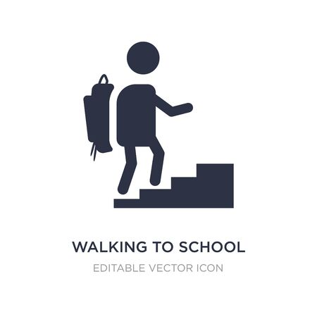 walking to school icon on white background. Simple element illustration from People concept. walking to school icon symbol design.