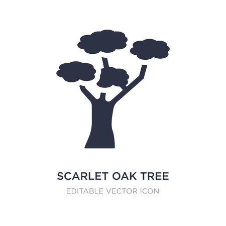 scarlet oak tree icon on white background. Simple element illustration from Nature concept. scarlet oak tree icon symbol design.