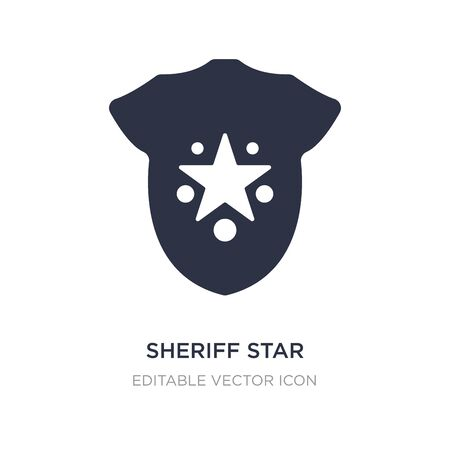 sheriff star icon on white background. Simple element illustration from Signs concept. sheriff star icon symbol design.