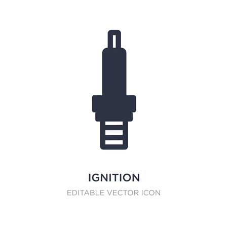 ignition icon on white background. Simple element illustration from Transportation concept. ignition icon symbol design.