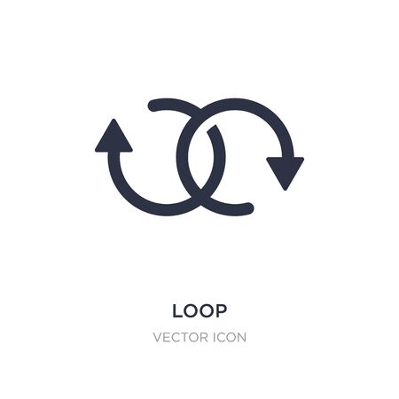 loop icon on white background. Simple element illustration from Analytics concept. loop sign icon symbol design.