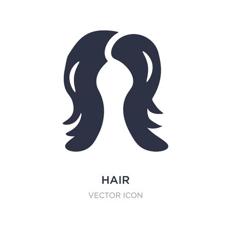 hair icon on white background. Simple element illustration from Beauty concept. hair sign icon symbol design.