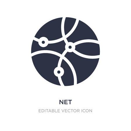 icono de red sobre fondo blanco. Ilustración de elemento simple del concepto de marketing en redes sociales. diseño de símbolo de icono de red.