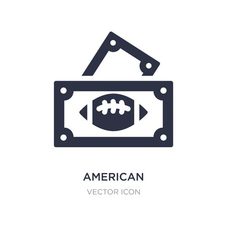 american football game ticket icon on white background. Simple element illustration from American football concept. american football game ticket sign icon symbol design.