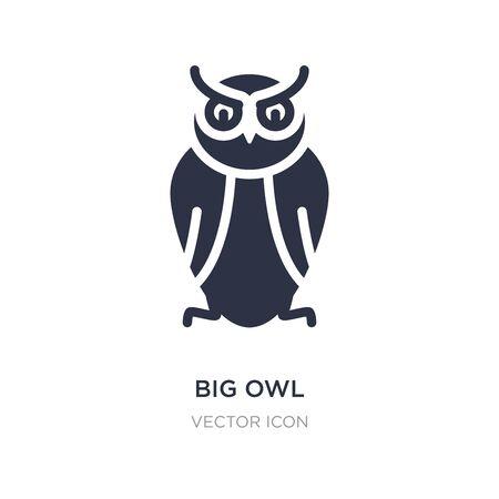 big owl icon on white background. Simple element illustration from Animals concept. big owl sign icon symbol design. Illustration