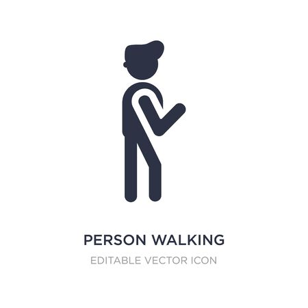 person walking icon on white background. Simple element illustration from People concept. person walking icon symbol design.
