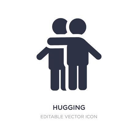hugging icon on white background. Simple element illustration from People concept. hugging icon symbol design.