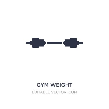 gym weight icon on white background. Simple element illustration from Sports concept. gym weight icon symbol design.