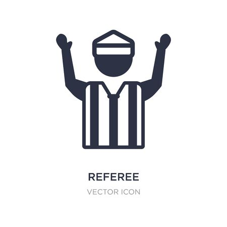 referee icon on white background. Simple element illustration from American football concept. referee sign icon symbol design. 向量圖像
