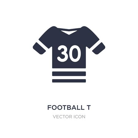football t shirt with number 83 icon on white background. Simple element illustration from American football concept. football t shirt with number 83 sign icon symbol design.