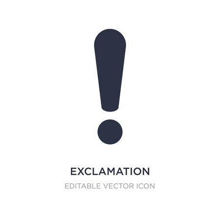 exclamation icon on white background. Simple element illustration from Signs concept. exclamation icon symbol design. Ilustrace