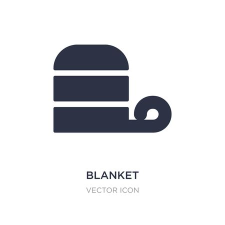 blanket icon on white background. Simple element illustration from Autumn concept. blanket sign icon symbol design.