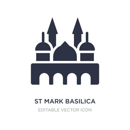 st mark basilica icon on white background. Simple element illustration from Monuments concept. st mark basilica icon symbol design.