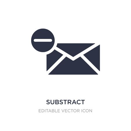 substract icon on white background. Simple element illustration from Signs concept. substract icon symbol design. Illustration
