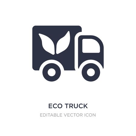 eco truck icon on white background. Simple element illustration from Transportation concept. eco truck icon symbol design.
