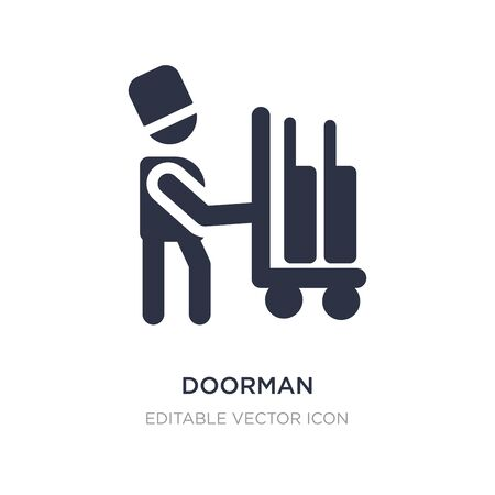 doorman icon on white background. Simple element illustration from Transportation concept. doorman icon symbol design.