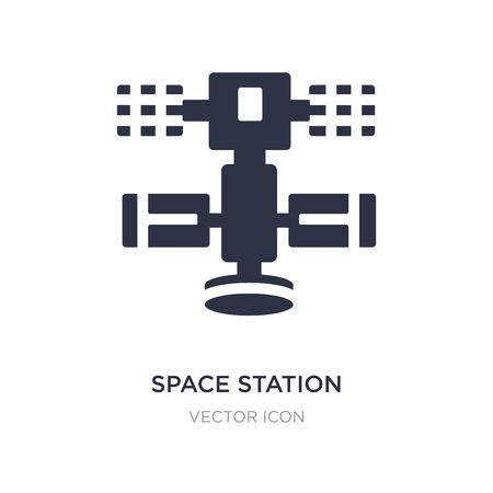 space station icon on white background. Simple element illustration from Astronomy concept. space station sign icon symbol design.