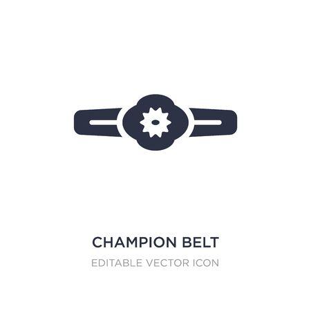 Champion-Gürtel-Symbol auf weißem Hintergrund. Einfache Elementillustration aus dem Sportkonzept. Champion Gürtel Symbol Design.