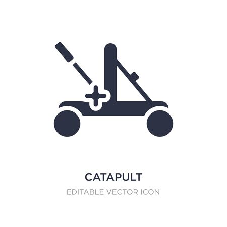 catapult icon on white background. Simple element illustration from Miscellaneous concept. catapult icon symbol design.