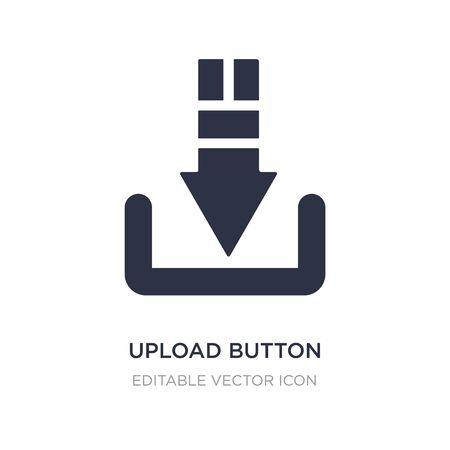 upload button icon on white background. Simple element illustration from UI concept. upload button icon symbol design.