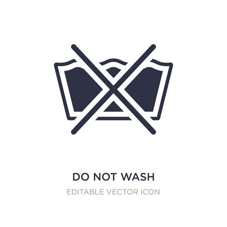 do not wash icon on white background. Simple element illustration from Signs concept. do not wash icon symbol design. Vektorové ilustrace