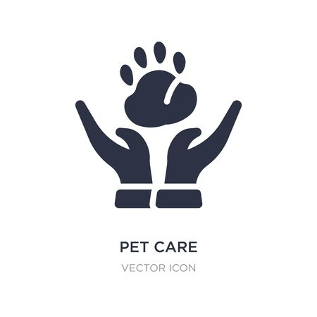 pet care icon on white background. Simple element illustration from Animals concept. pet care sign icon symbol design. 일러스트