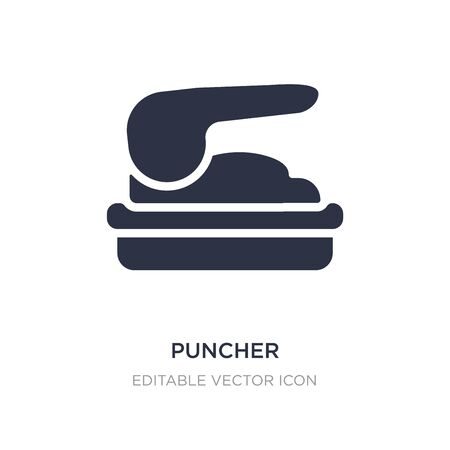 puncher icon on white background. Simple element illustration from Miscellaneous concept. puncher icon symbol design.