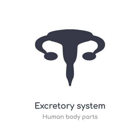 excretory system outline icon. isolated line vector illustration from human body parts collection. editable thin stroke excretory system icon on white background